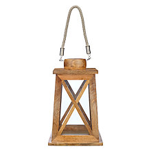 Buy John Lewis Wooden Lantern With Rope Handle Online at johnlewis.com