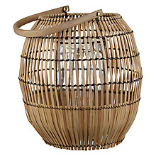 Buy Fusion Bamboo Globe Lantern, Small Online at johnlewis.com
