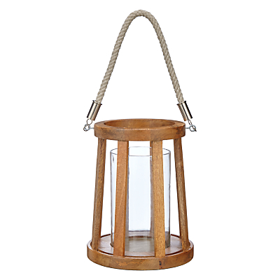 John Lewis Wooden Hurricane With Rope Handle, Small