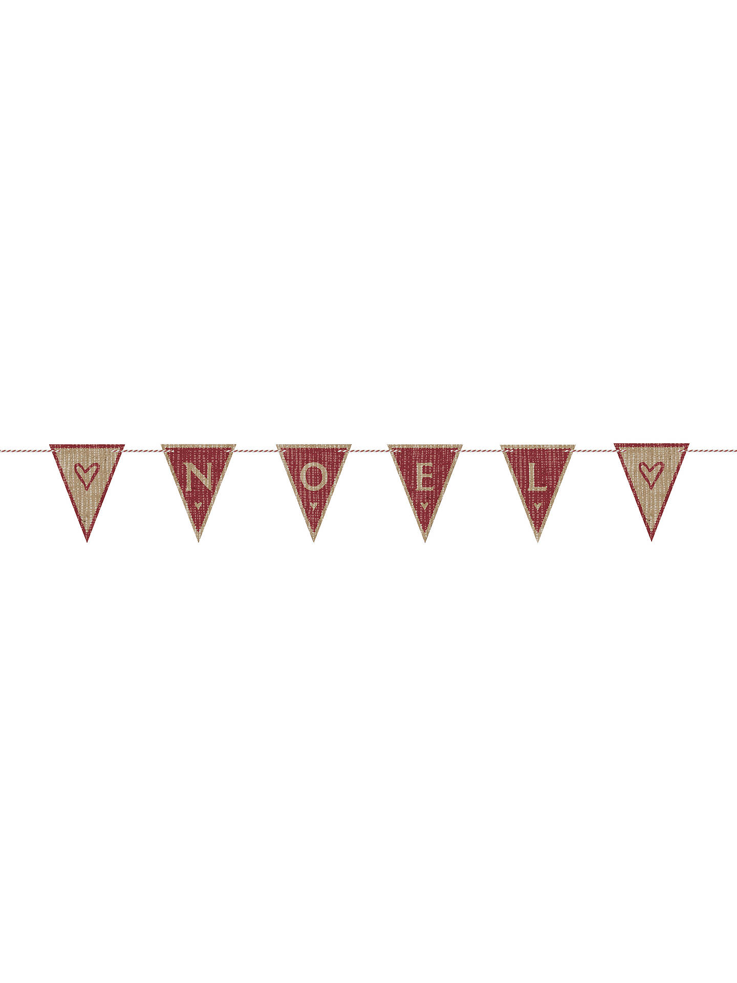 East of India Noel Fabric Bunting Kit, Brown/Red at John Lewis ...