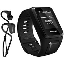 Buy TomTom Spark 3 Music GPS Fitness Activity Watch with Bluetooth Headphones, Black Online at johnlewis.com