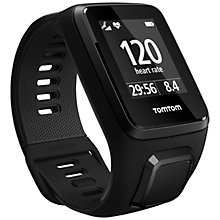 Buy TomTom Spark 3 Cardio & Music GPS Fitness Activity Watch with Built-In Heart Rate Monitor, Black Online at johnlewis.com