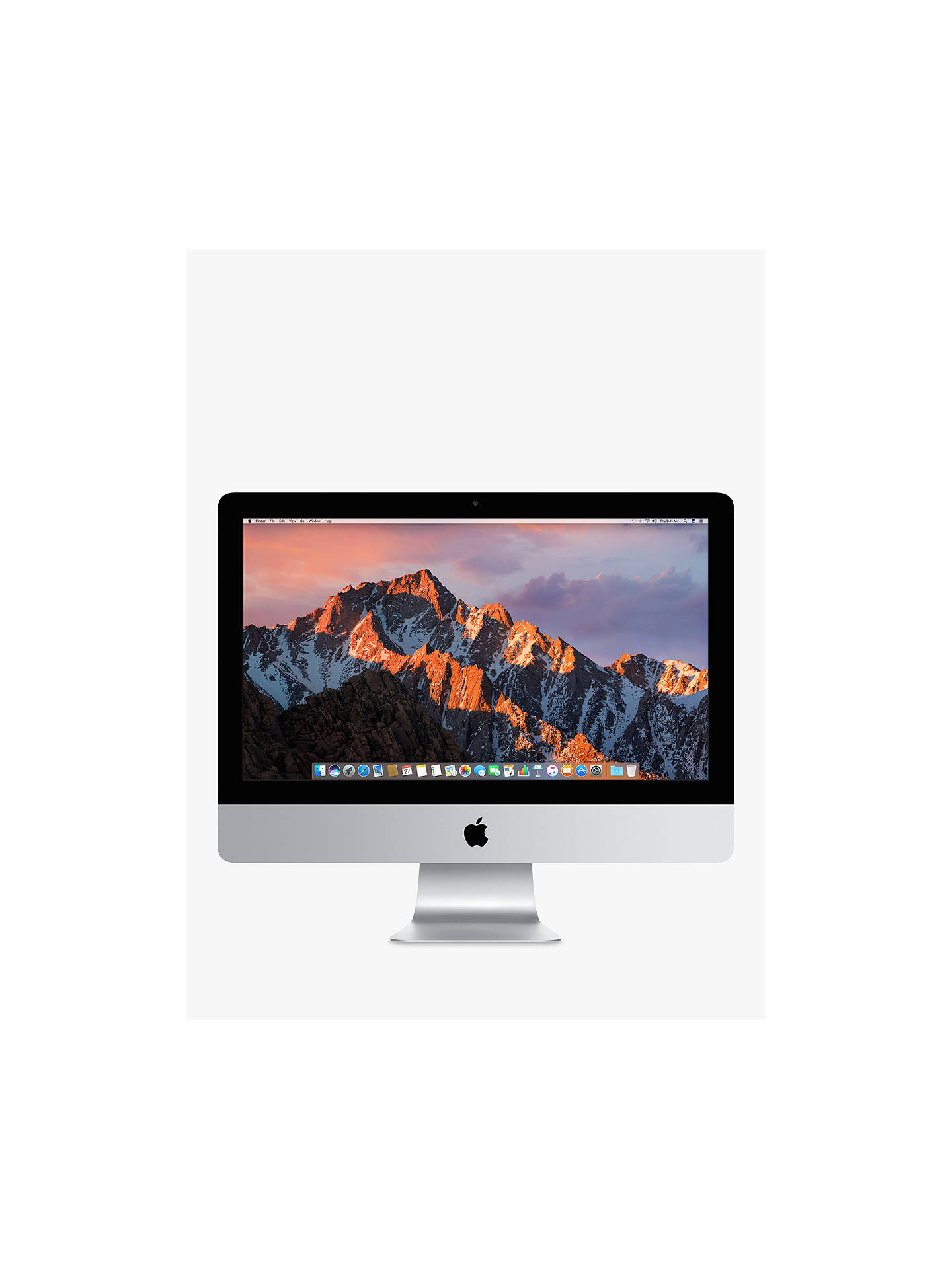 "Buy2017 Apple iMac 21.5"" Retina 4K Display, Intel Core i5, 8GB RAM, 1TB HDD, Radeon Pro 555, Silver Online at johnlewis.com"