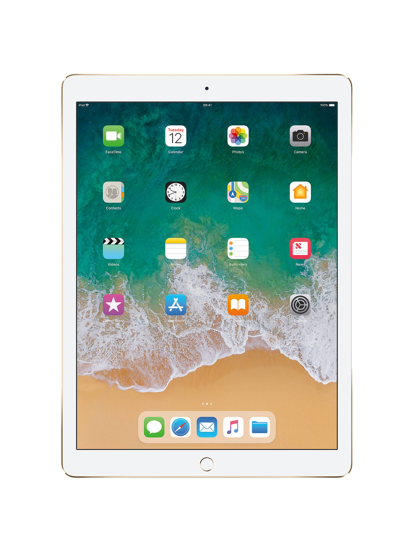 "Buy2017 Apple iPad Pro 12.9"", A10X Fusion, iOS11, Wi-Fi, 256GB, Gold Online at johnlewis.com"
