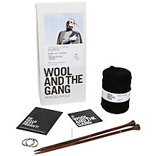 Buy Wool and the Gang Tender Loving Clutch Bag Knitting Kit, Black Online at johnlewis.com