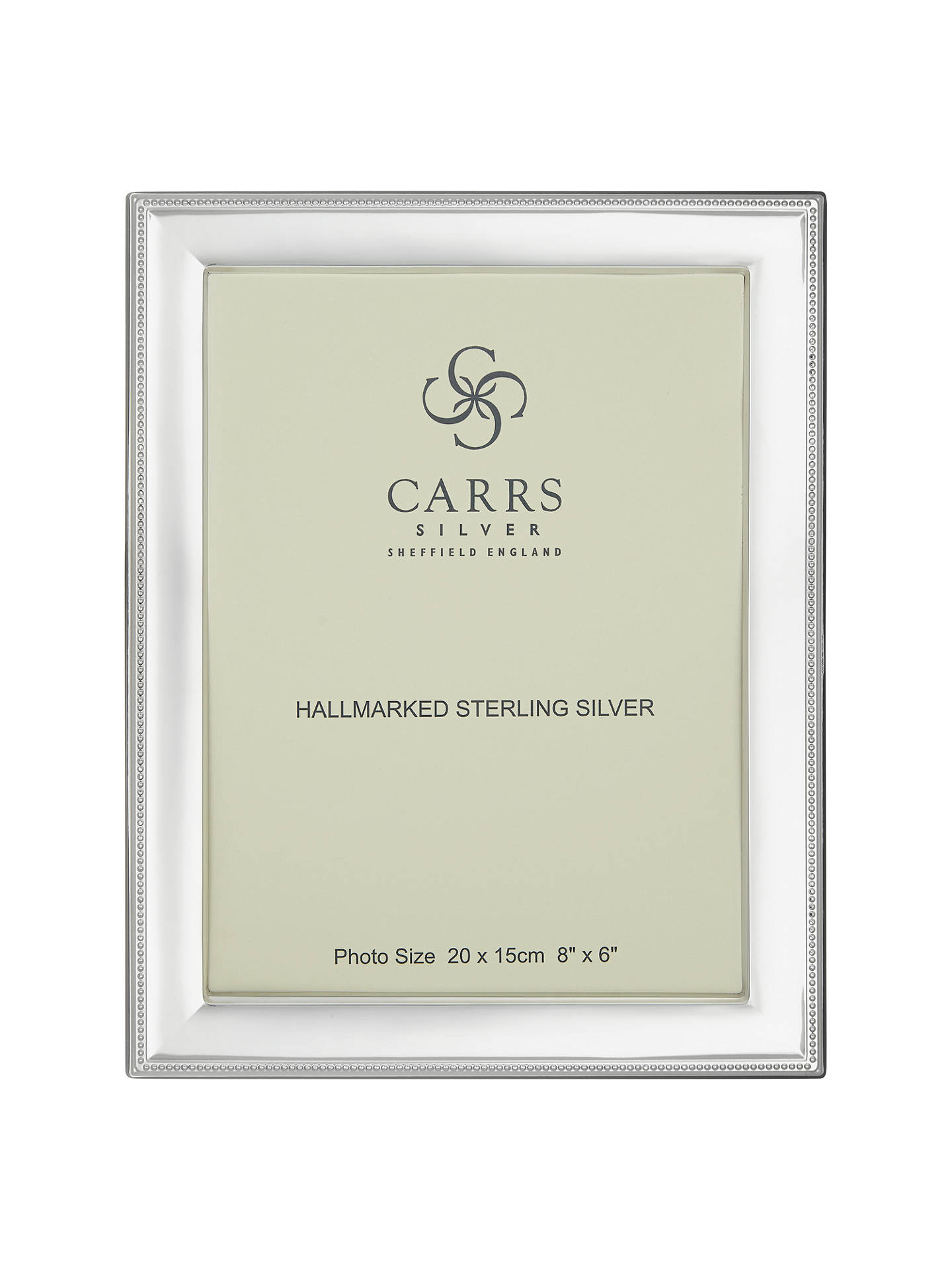 Carrs Berkeley Bead Frame 8 X 6 Sterling Silver At John Lewis