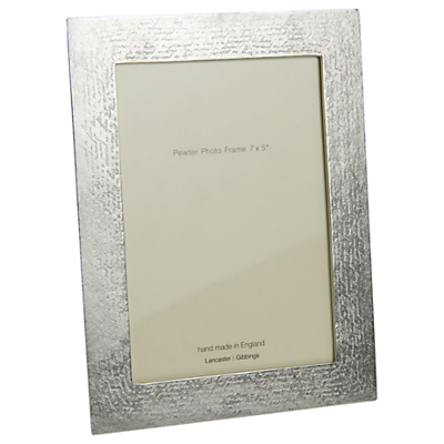 Lancaster and Gibbings Handwriting Photo Frame, 7 x 5, Pewter