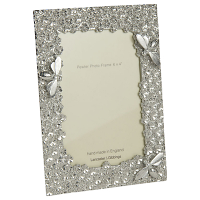 Product photo of Lancaster and gibbings bee photo frame 6 x 4 pewter