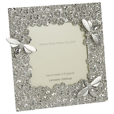 Lancaster and Gibbings Bee Photo Frame, 3.5 x 3.5, Pewter