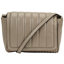 Buy DKNY Gansevoort Leather Mini Across Body Bag, Clay Online at johnlewis.com