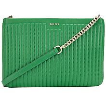Buy DKNY Gansevoort Leather Quilted Across Body Bag Online at johnlewis.com
