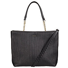 Buy DKNY Gansevoort Leather Quilted Shopper Bag, Black Online at johnlewis.com