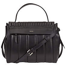 Buy DKNY Gansevoort Leather Quilted Flap Shoulder Bag, Black Online at johnlewis.com