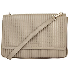 Buy DKNY Gansevoort Quilted Large Flap Shoulder Bag, Clay Online at johnlewis.com