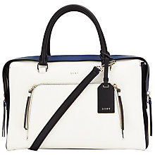 Buy DKNY Greenwich Smooth Calf Leather Satchel Online at johnlewis.com