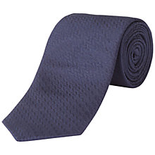 Buy Jaeger Straw Jacquard Silk Tie, Navy Online at johnlewis.com