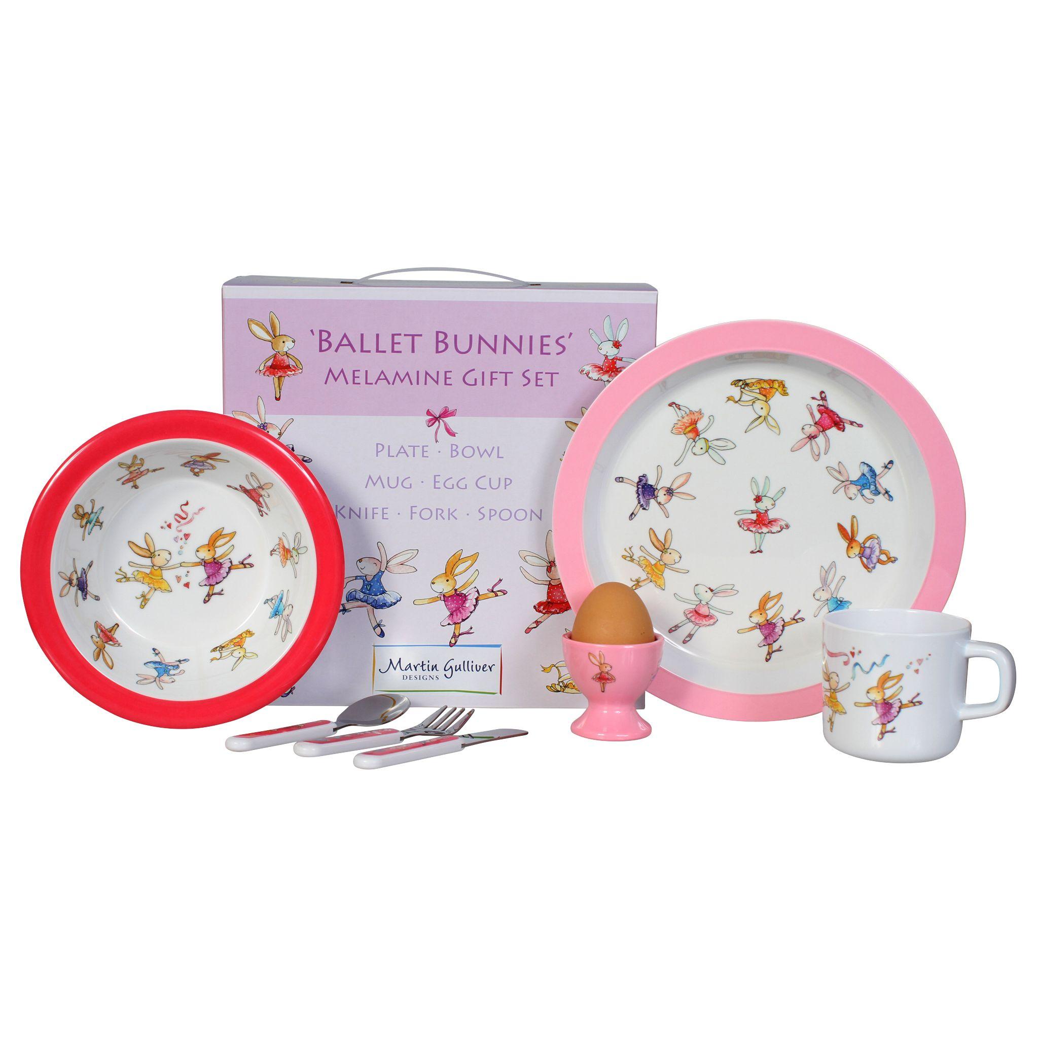 Buy Martin Gulliver Ballet Bunnies Melamine Dinner Set John Lewis