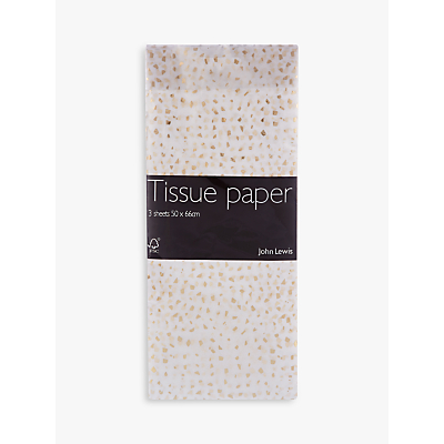 Image of John Lewis & Partners Gold Fleck Tissue Paper, 3 Sheets