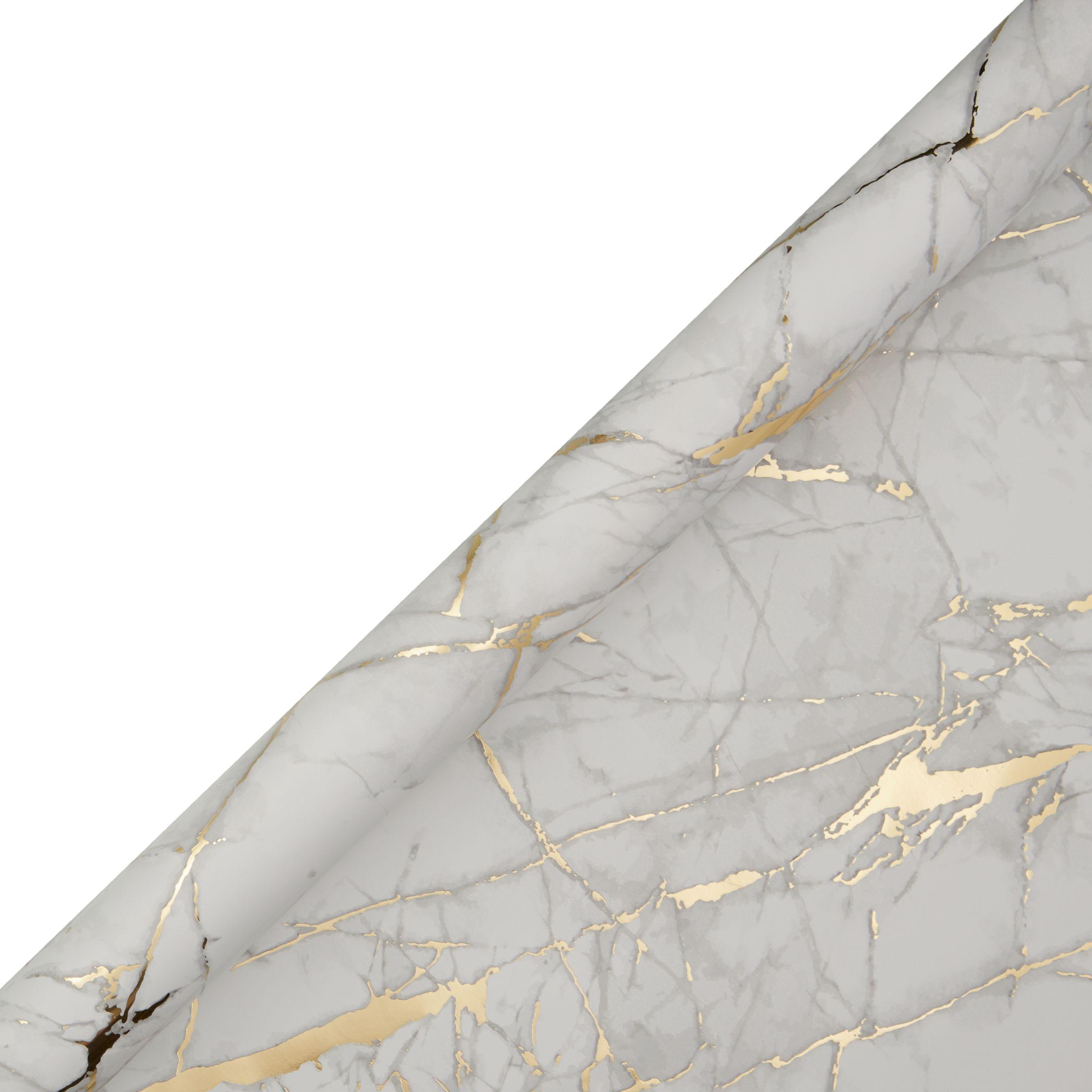 Buy John Lewis Marble Gift Wrap 3m Gold John Lewis