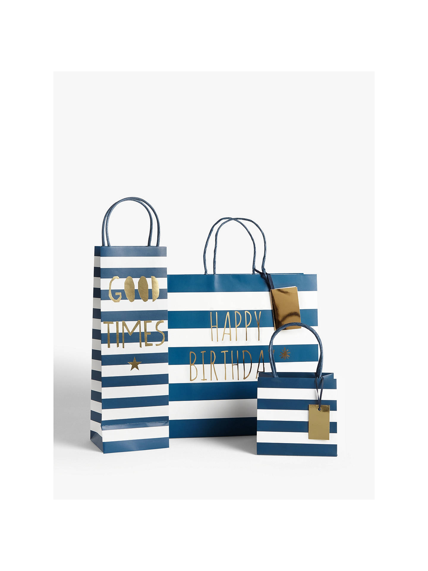 Bellybutton Bubble Navy Gift Bag At John Lewis Partners