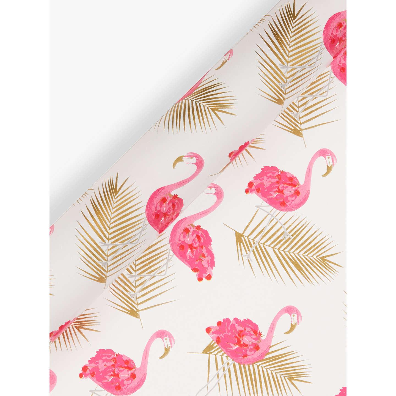 John Lewis Gift List Wedding: John Lewis Flamingo Gift Wrap, 3m, Pink/Gold At John Lewis