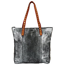 Buy AND/OR Maya Leather Tote Bag, Silver Online at johnlewis.com