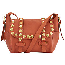Buy AND/OR Maya Leather Across Body Bag, Burnt Orange Online at johnlewis.com