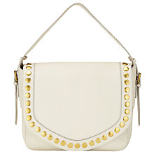 Buy AND/OR Maya Leather Slouch Shoulder Bag, Cream Online at johnlewis.com