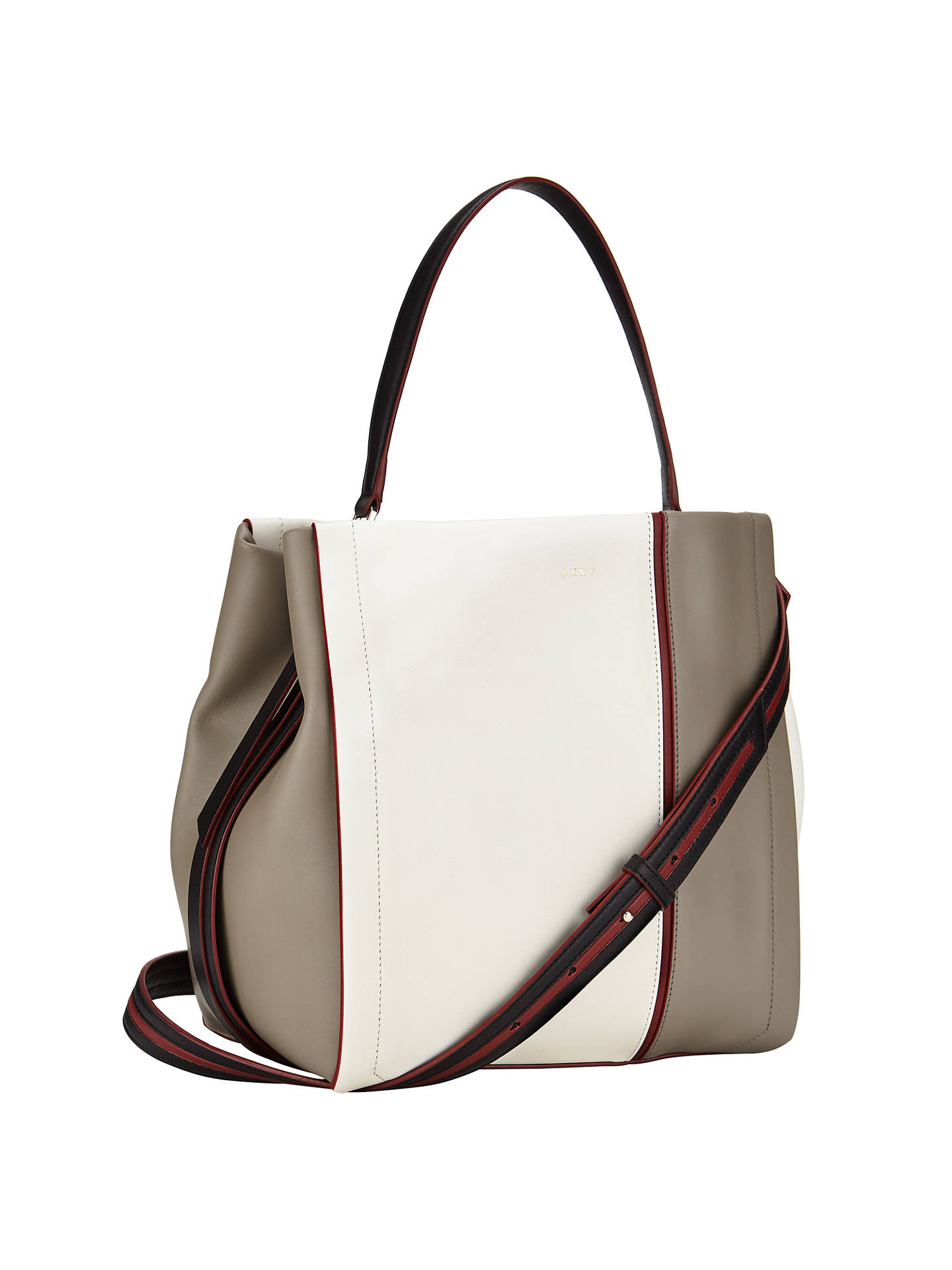 DKNY Greenwich Leather Bucket Bag, Multi at John Lewis