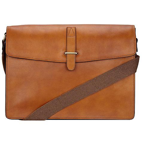 Buy John Lewis Made in Italy Leather Messenger Bag | John Lewis
