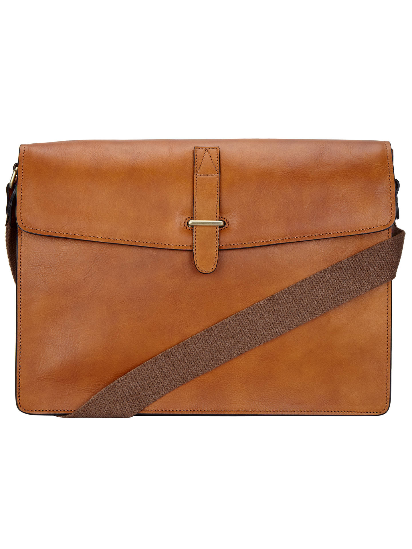 John Lewis   Partners Made in Italy Leather Messenger Bag at John ... 654a99fb1892b
