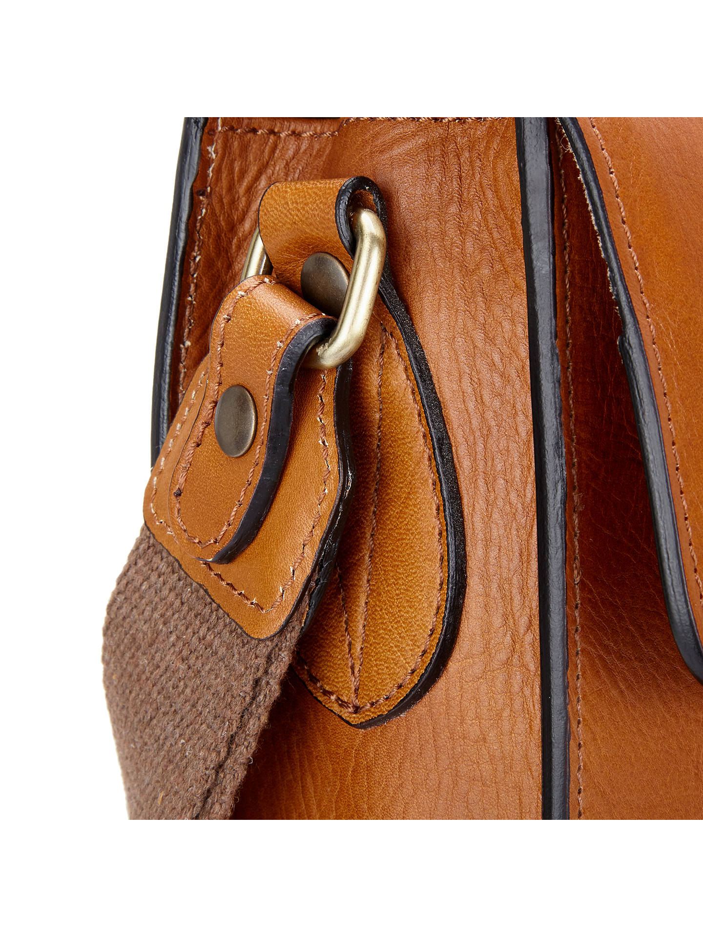 b5c221c7f9db John Lewis   Partners Made in Italy Leather Messenger Bag at John ...