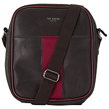 Buy Ted Baker Kennedy Webbing Flight Bag, Chocolate Online at johnlewis.com