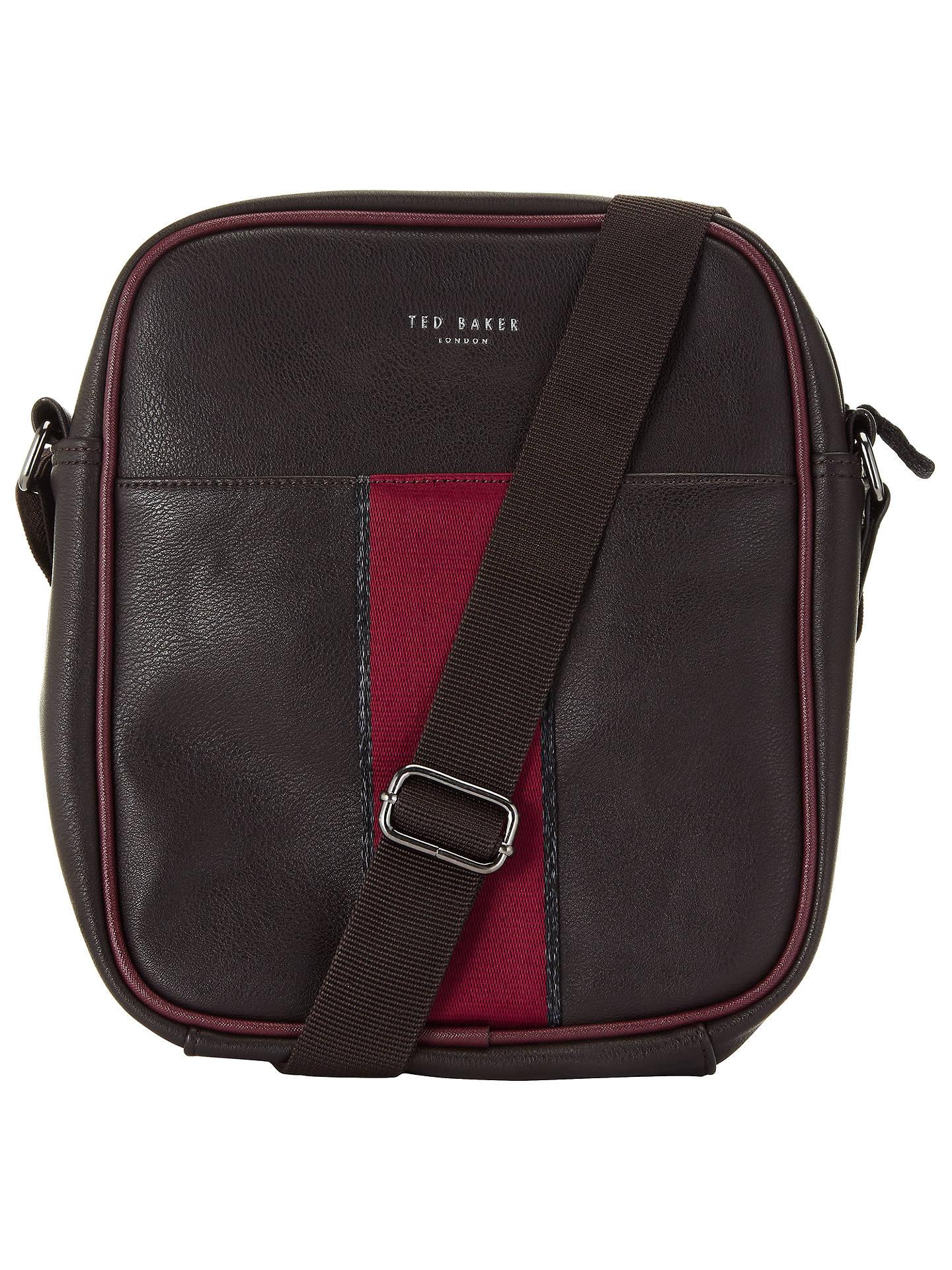 e3ee5310ade1 Buy Ted Baker Kennedy Webbing Flight Bag, Chocolate Online at johnlewis.com  ...