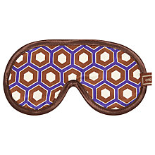 Buy Otis Batterbee Cravat Print Cotton Silk Eye Mask, Burgundy Online at johnlewis.com