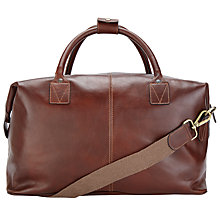 Buy John Lewis Made in Italy Leather Holdall, Brown Online at johnlewis.com