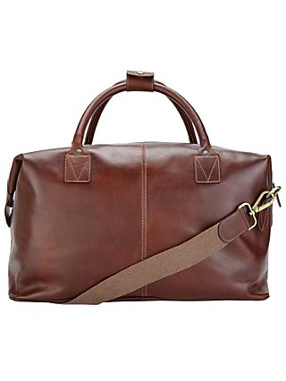 John Lewis & Partners Made in Italy Leather Holdall