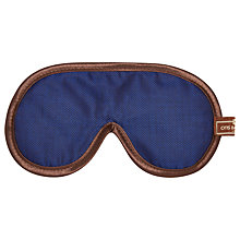 Buy Otis Batterbee Herringbone Eye Mask, Navy Online at johnlewis.com