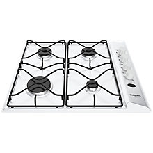 Buy Hotpoint PAS642 Gas Hob, White Online at johnlewis.com