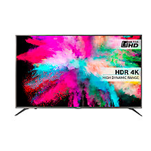 "Buy Hisense 50M5500 LED HDR 4K Ultra HD Smart TV, 50"" With Freeview HD & Anyview Cast, Silver Online at johnlewis.com"