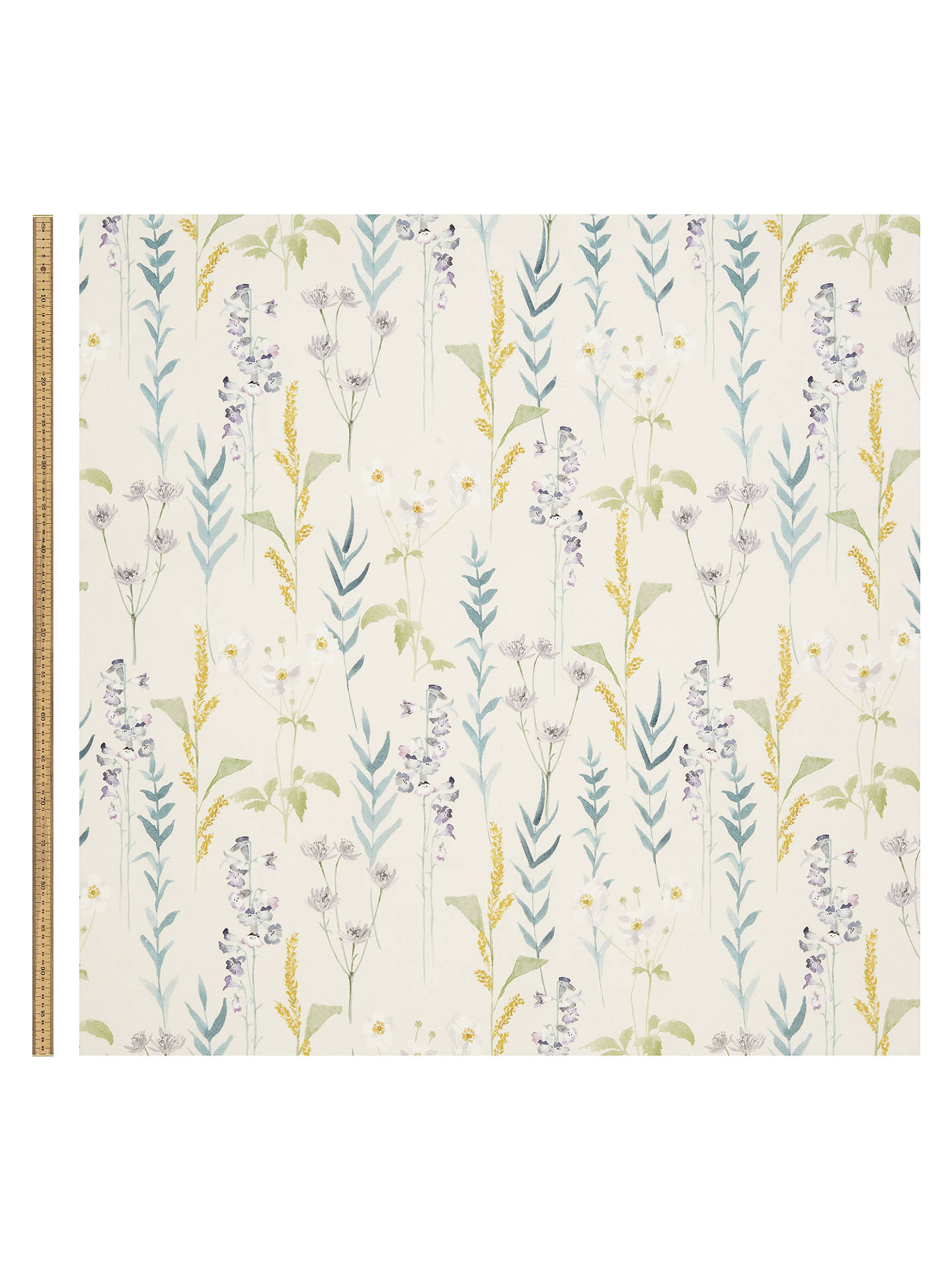 Buy John Lewis & Partners Longstock Furnishing Fabric, Green Online at johnlewis.com