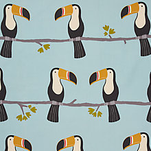 Buy Scion Terry Toucan Curtain, Blue, Was £30.00 per metre, Now £15.00 per metre Online at johnlewis.com