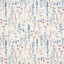 Buy John Lewis Longstock Curtain, Blue / Coral Online at johnlewis.com
