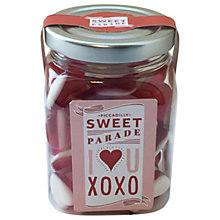 Buy Piccadilly Sweet Parade Red & White Jelly Hearts Jar, 210g Online at johnlewis.com