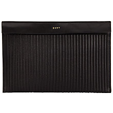 Buy DKNY Gansevoort Quilted Leather Small Pouch Purse, Black Online at johnlewis.com