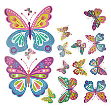 Buy little home at John Lewis Butterflies Wall Stickers Online at johnlewis.com