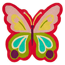 Buy little home at John Lewis Butterfly Shape Rug Online at johnlewis.com
