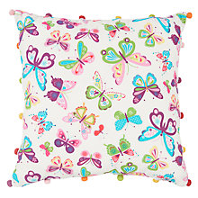 Buy little home at John Lewis Butterfly Cushion Online at johnlewis.com