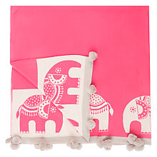 Buy little home at John Lewis Abbey Elephant Throw Online at johnlewis.com