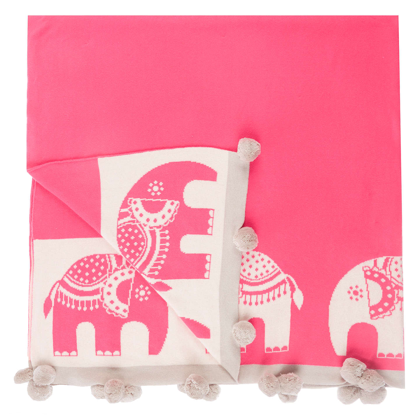 Buylittle home at John Lewis Abbey Elephant Throw Online at johnlewis.com